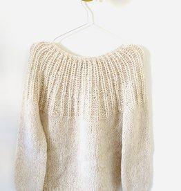 Inti Knitwear sweater 'Flor' Almendras alpaca