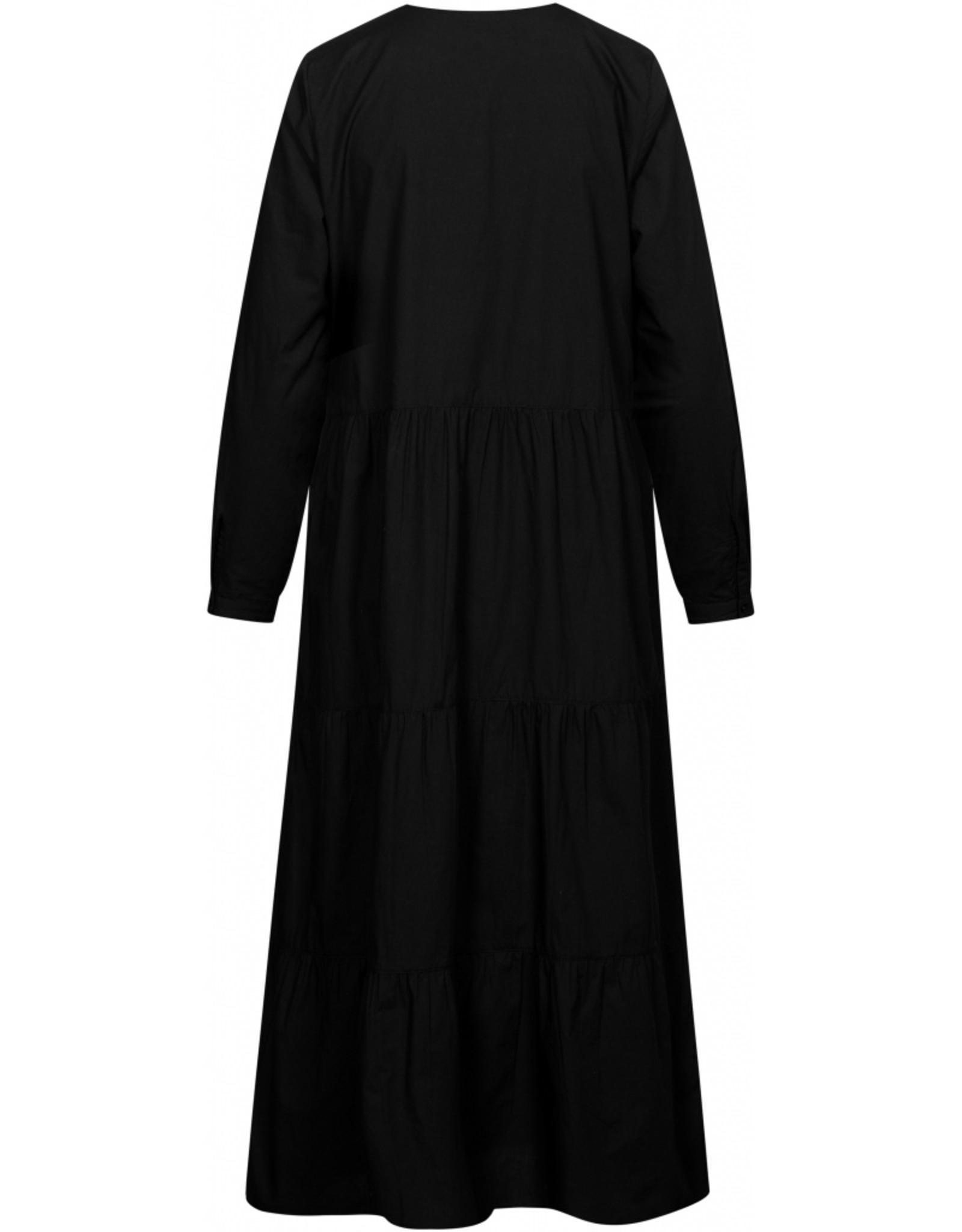 Gai&Lisva jurk 'Tanja' katoen - zwart
