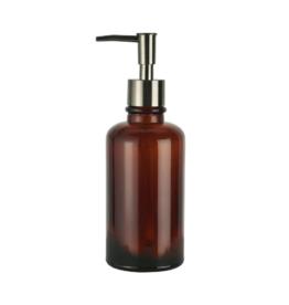 IBLaursen Soap dispenser brown glass