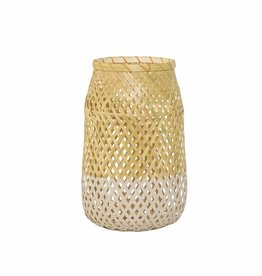"""Bloomingville lantern 'Sule"""" bamboo with glass"""