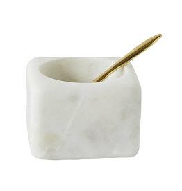 Creative Colection zoutbakje 'Zina' marmer met lepel