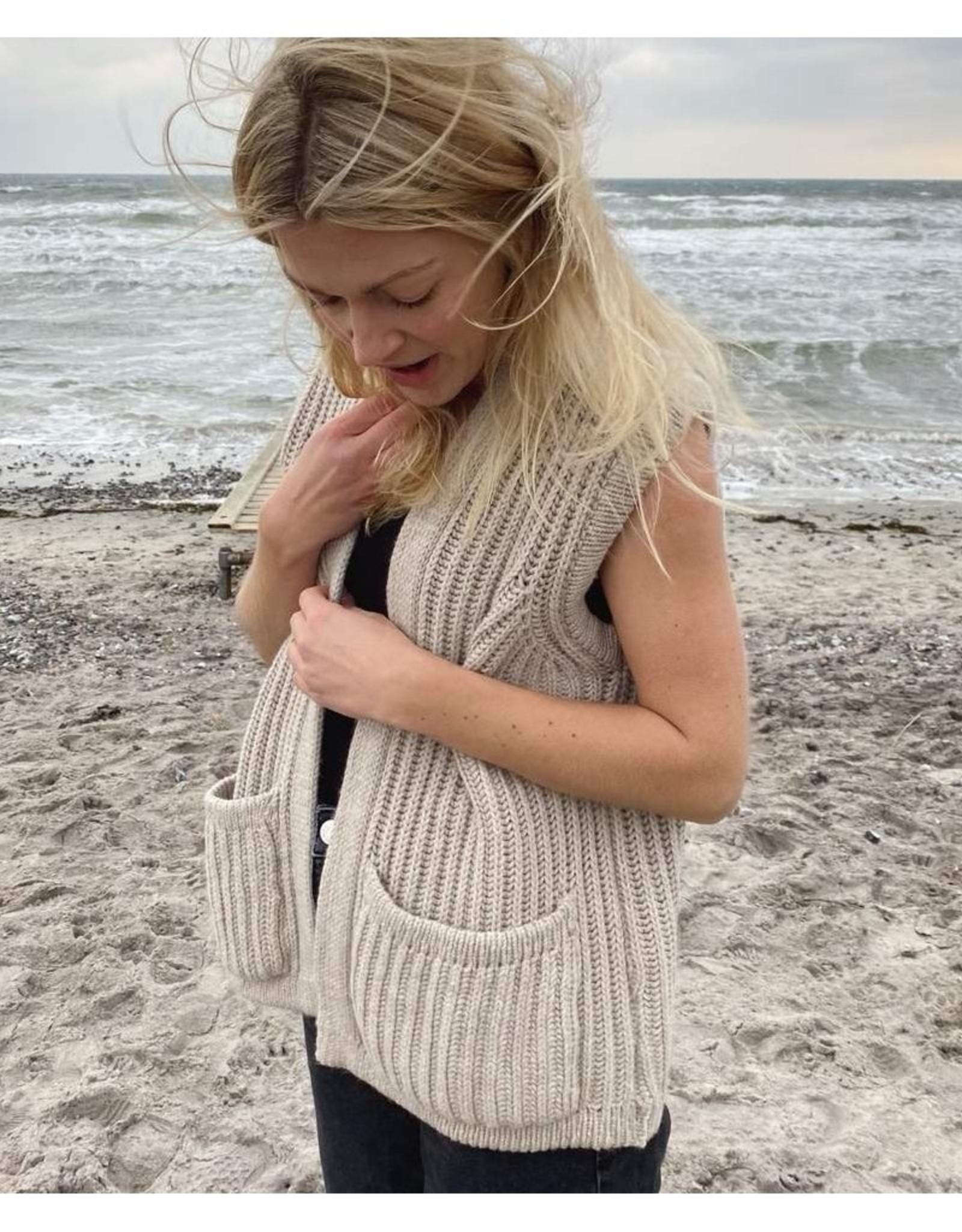 Gai&Lisva vest 'November' merinowool - nougat