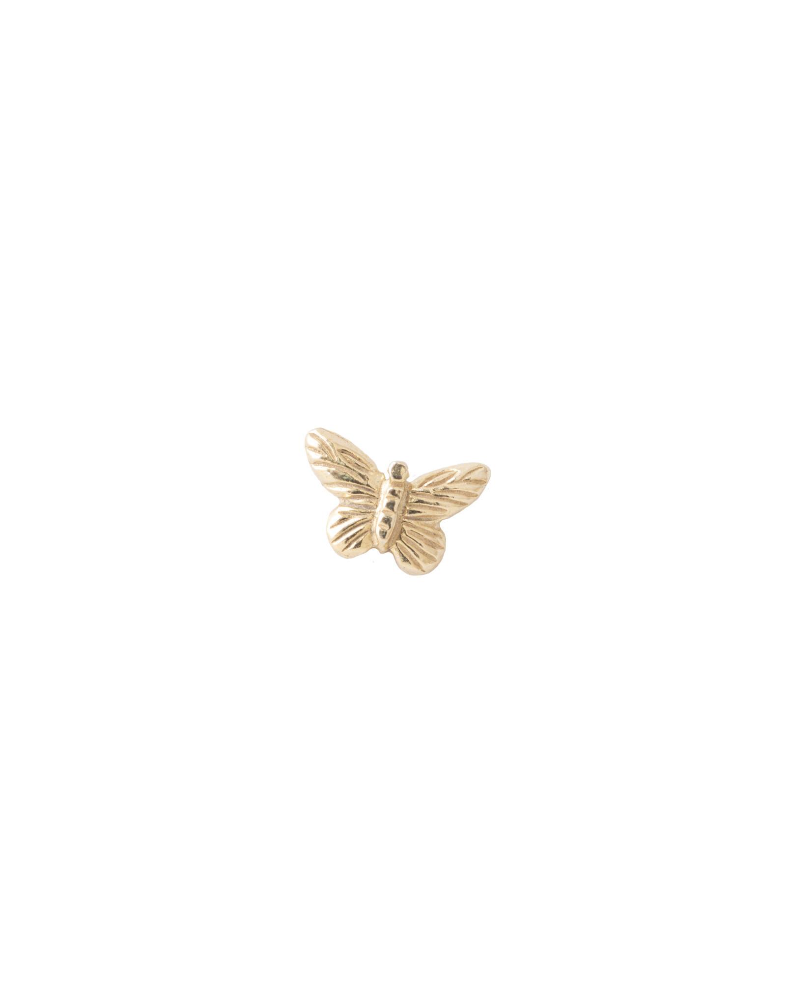 A Beautiful Story Oorbel 'Symbol'  - vlinder goud