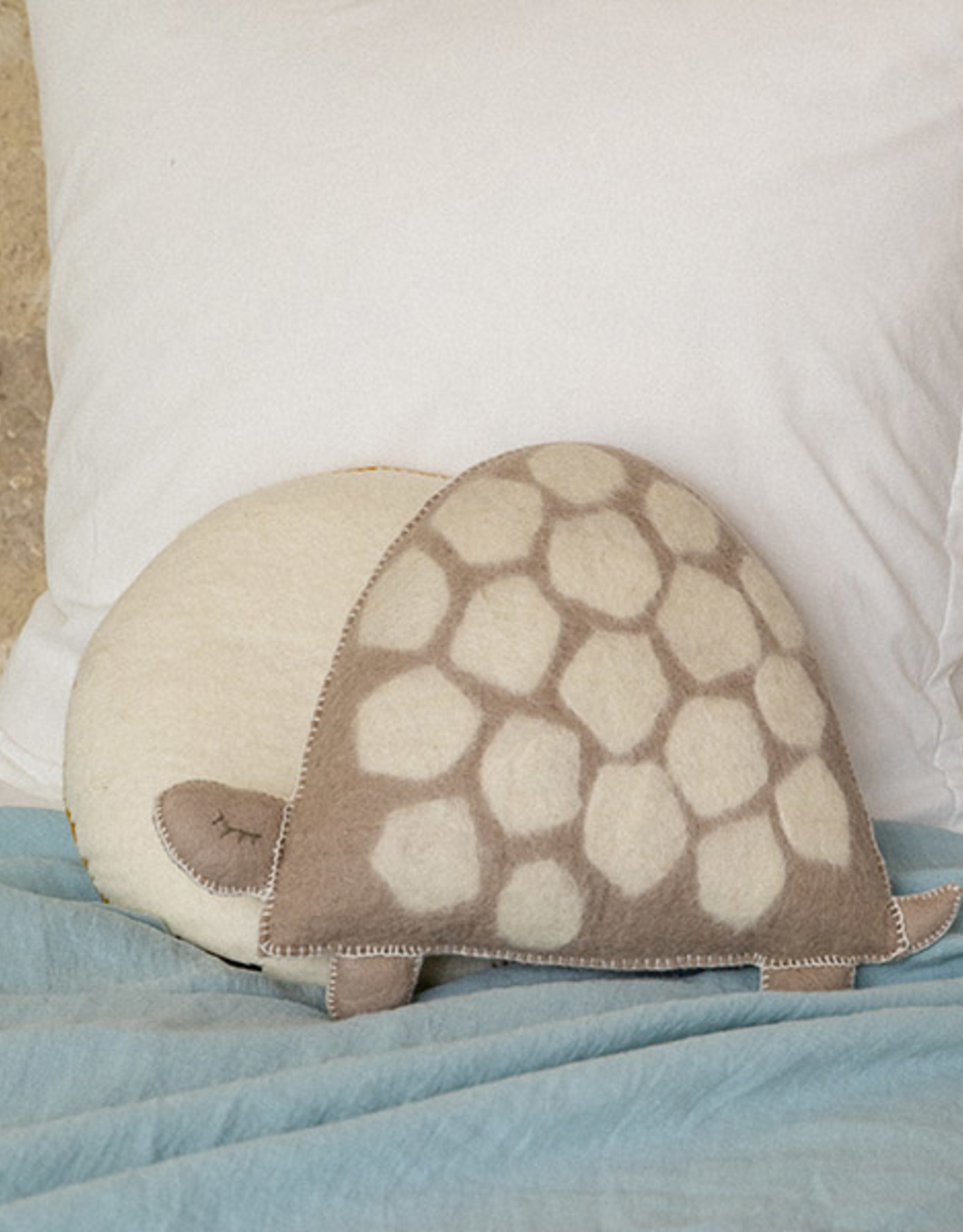 Mushkane kussen 'Turtle' naturel