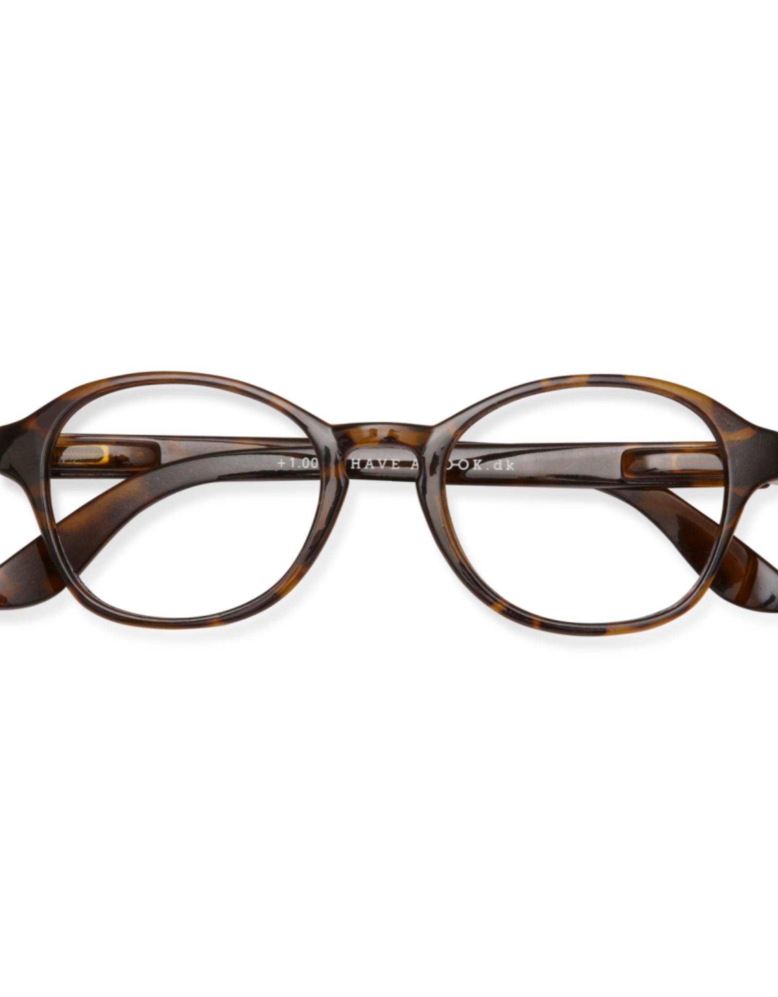 Reading Glasses Circle Tortoise
