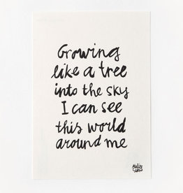 Sukha poster 'grow' A5  gampipaper