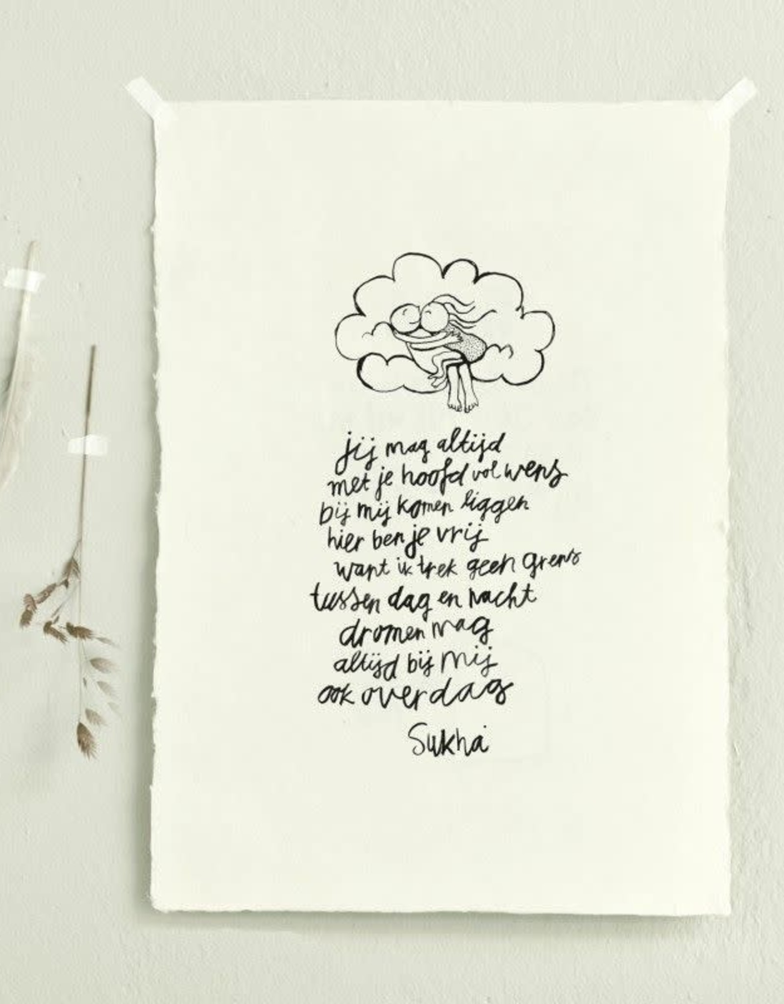 Sukha poster 'Daybed' loktapapier