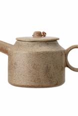 Bloomingville theepot ' Thea' aardewerk bruin