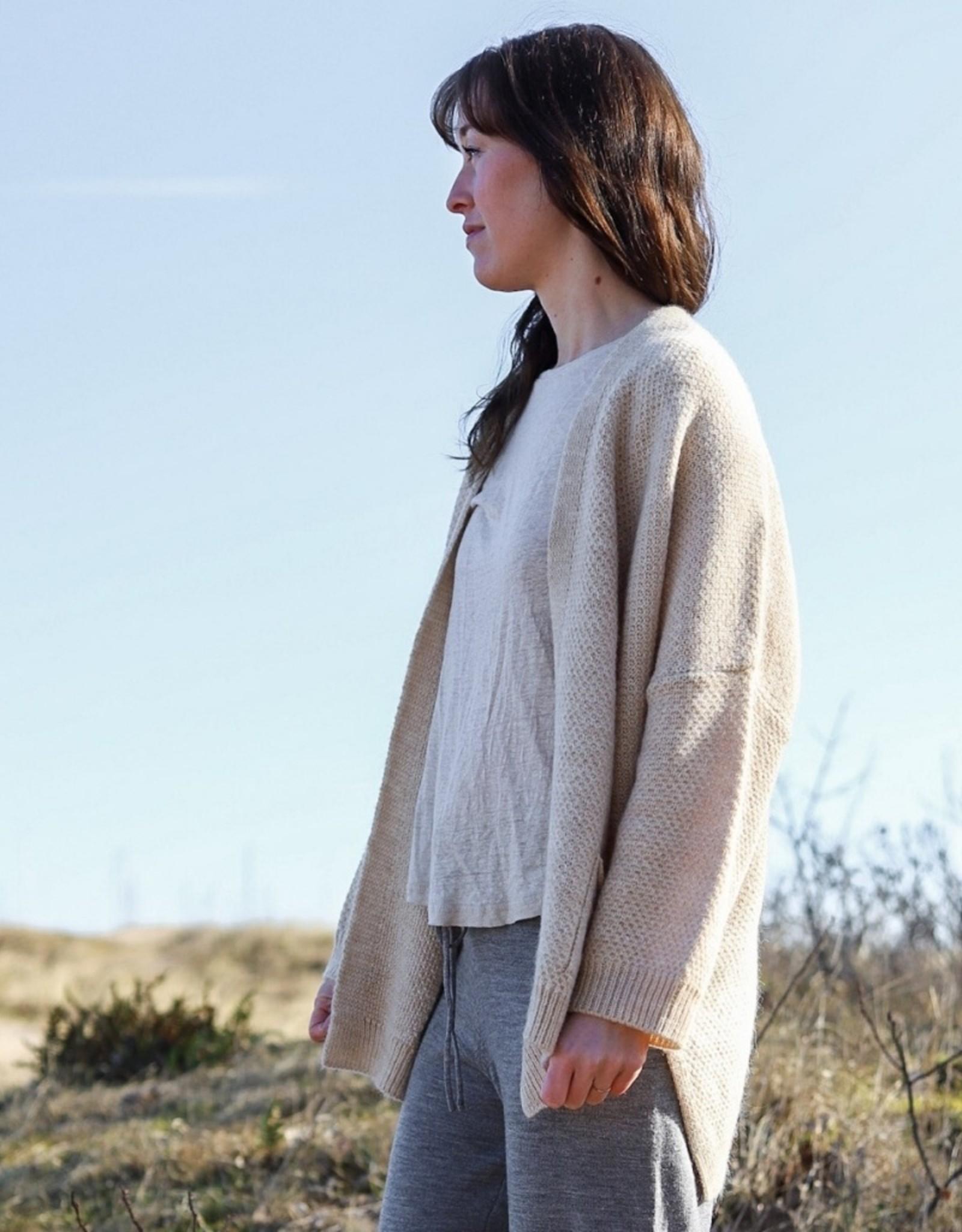 Gai&Lisva Charlotte Knit Cardigan - Nougat