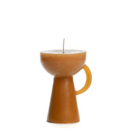 Rustik Lys kaars 'Sculpture Cup' - caramel