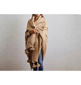Marokkaanse deken katoen - camel