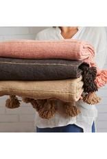 Maroccan blanket cotton - camel