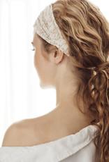 "Meraki haarband 'Lutea"" wit / mosterd"
