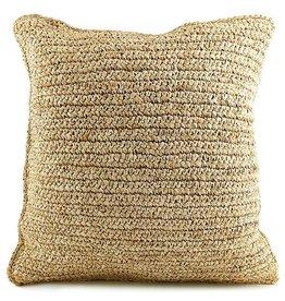 Bazar Bizar 'Flores' raffia pillow 40x40cm
