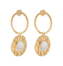 A Beautiful Story Earrings Thankful Moonstone Gold