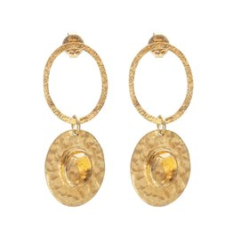 A Beautiful Story Earrings Thankful Citrine Gold