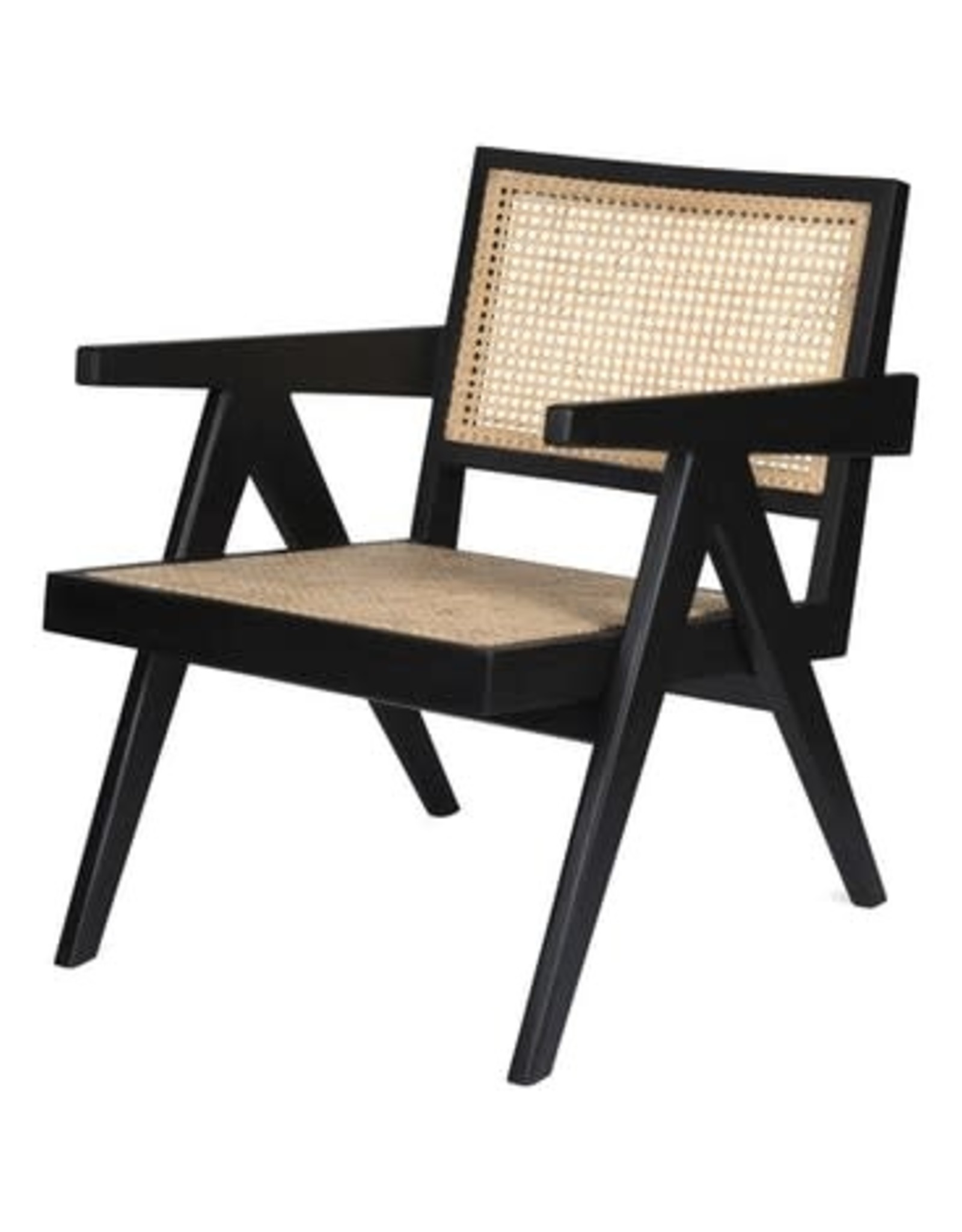 Detjer Easy loungestoel Chandigarh - zwart