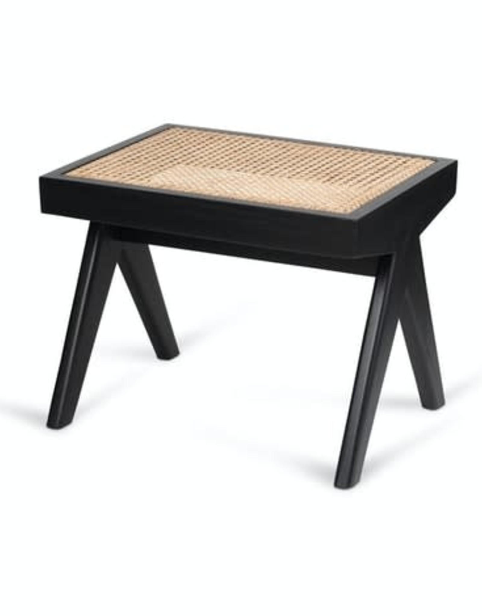 Detjer Footstool Chandigarh -  zwart