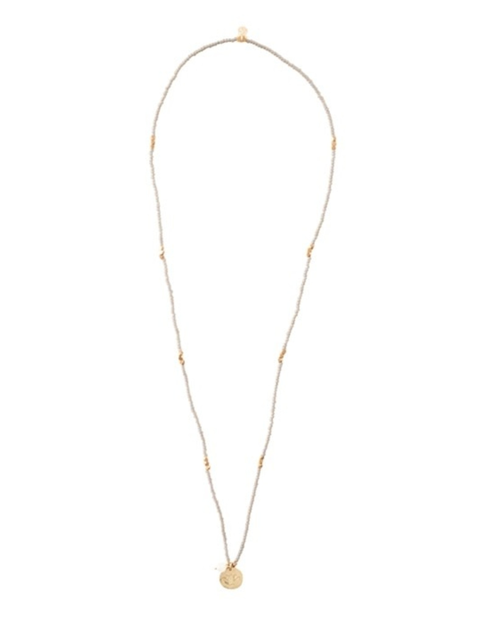 A Beautiful Story Ketting 'Truly' - Moonstone Lotus Gold