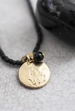 A Beautiful Story Ketting 'Truly' - Black Onyx Buddha Gold