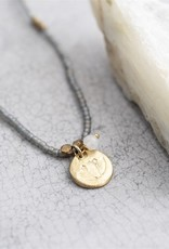 A Beautiful Story Necklace 'Truly' - Moonstone Lotus Gold