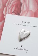 A Beautiful Story Brooch Heart - silver