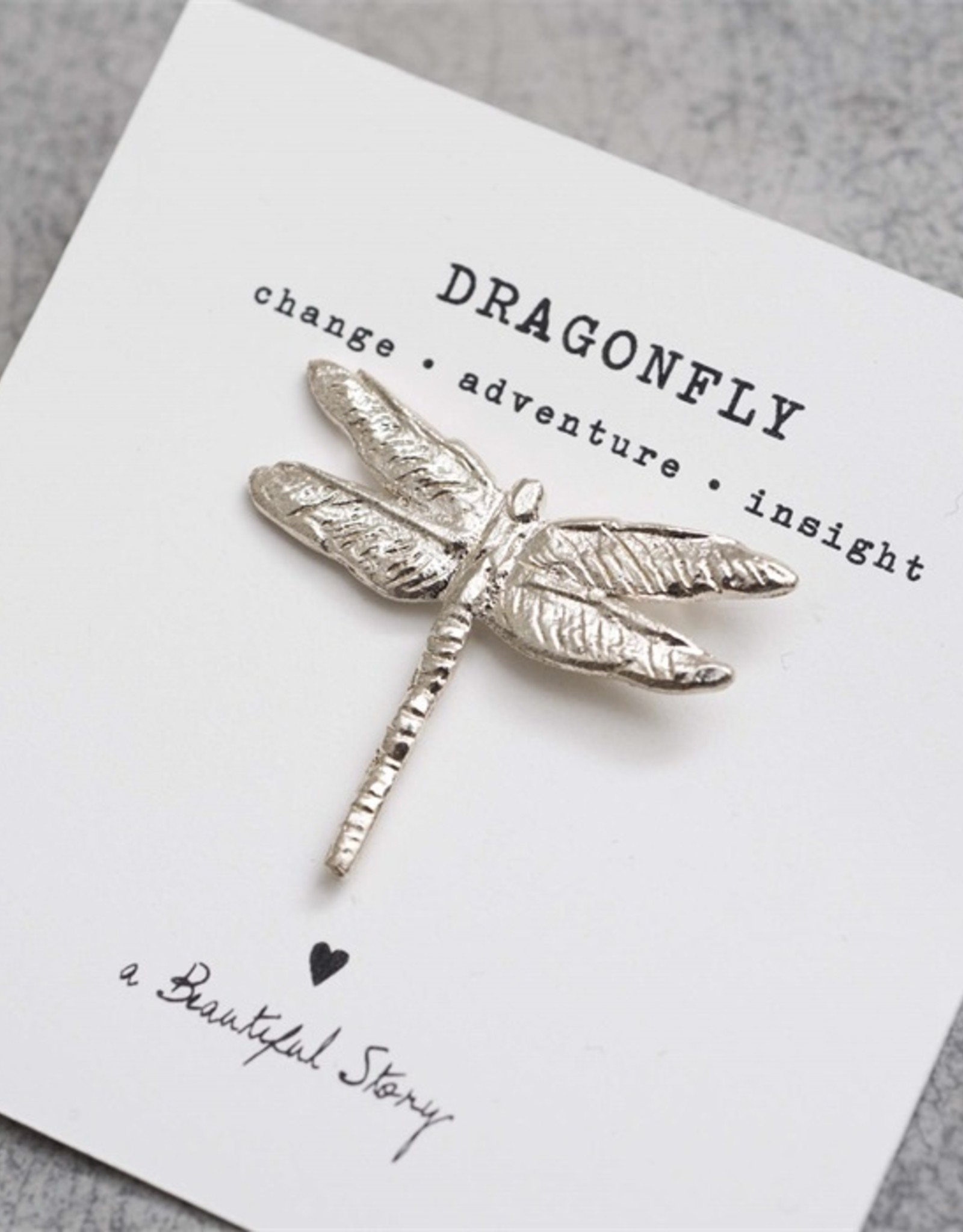 A Beautiful Story Broche Libelle - zilver