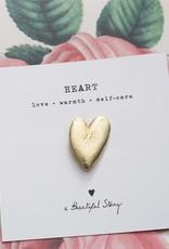 A Beautiful Story Broche Hart - Goud