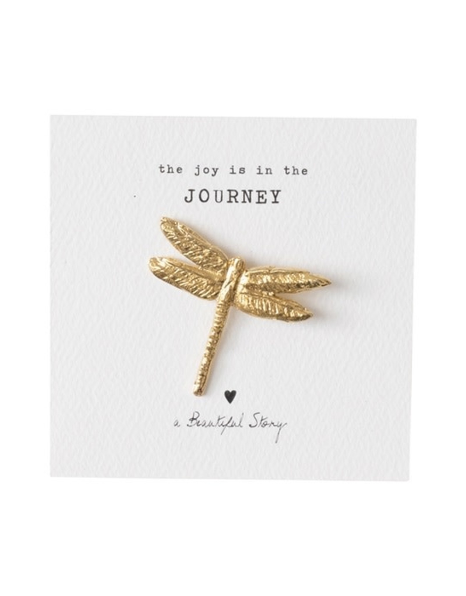 A Beautiful Story Brooch Dragonfly - gold