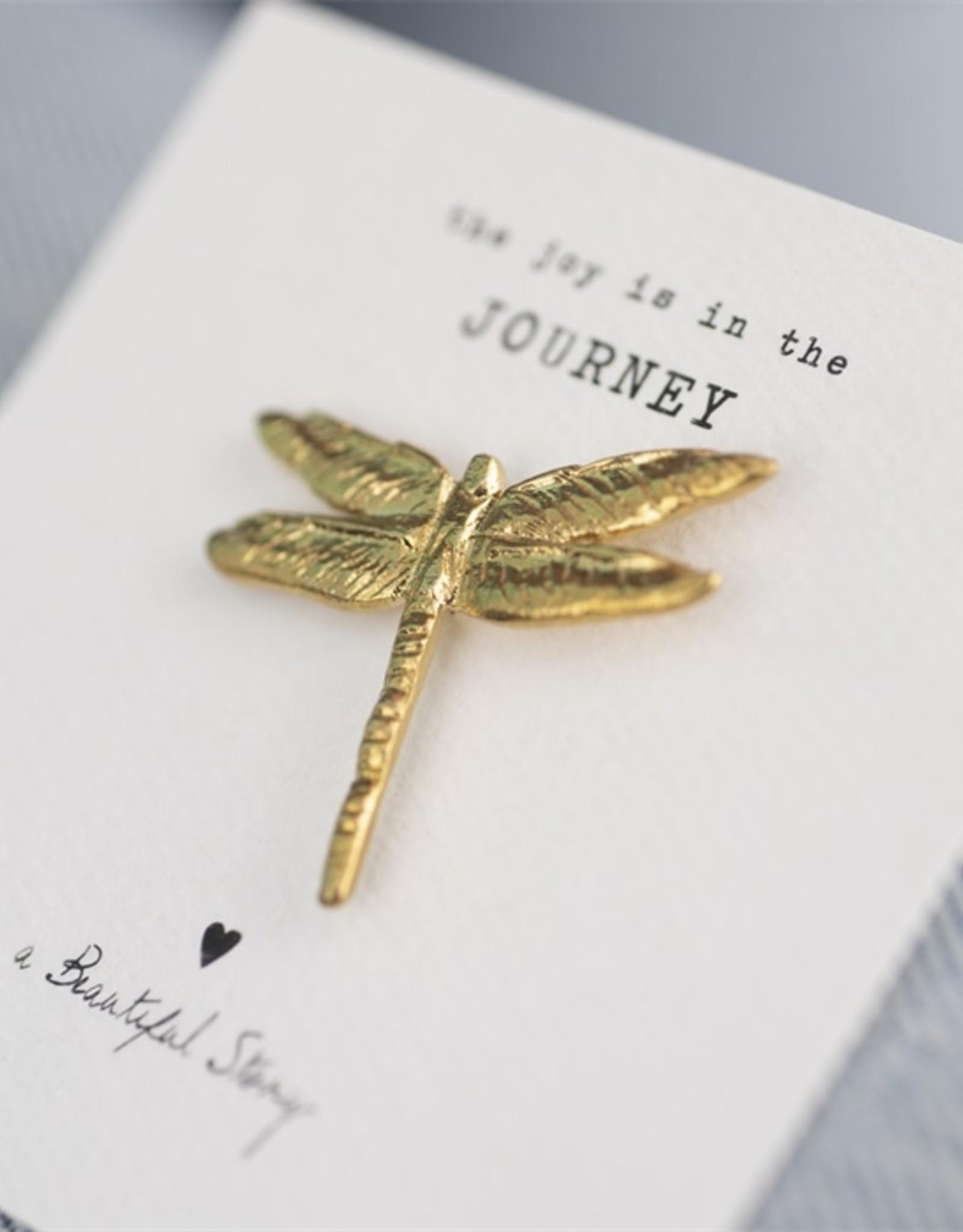 A Beautiful Story Broche Libelle - Goud