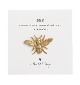 A Beautiful Story Brooch Bee - gold