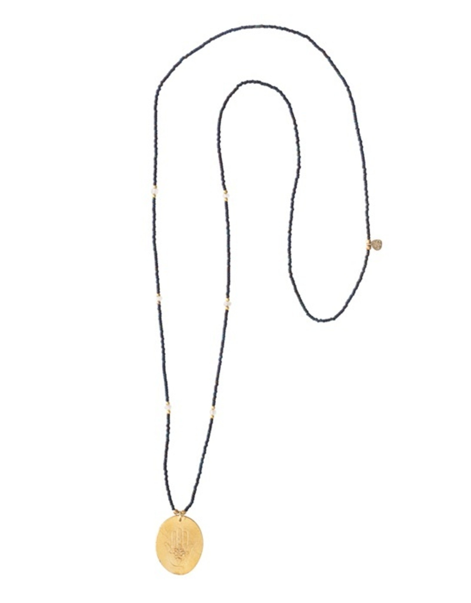 A Beautiful Story Necklace 'Swing' - Moonstone Gold