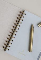Monograph Pen w. black ink, Ball, Brass