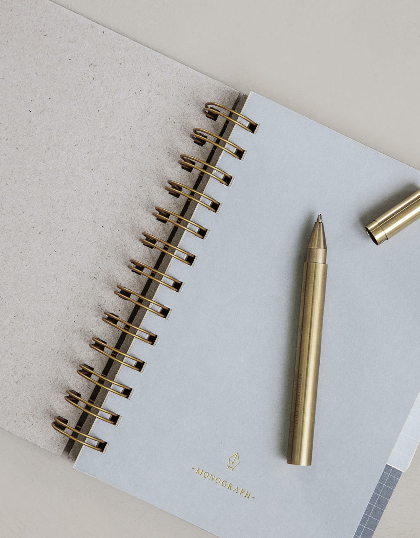 Monograph balpen brass - zwart schrijvend