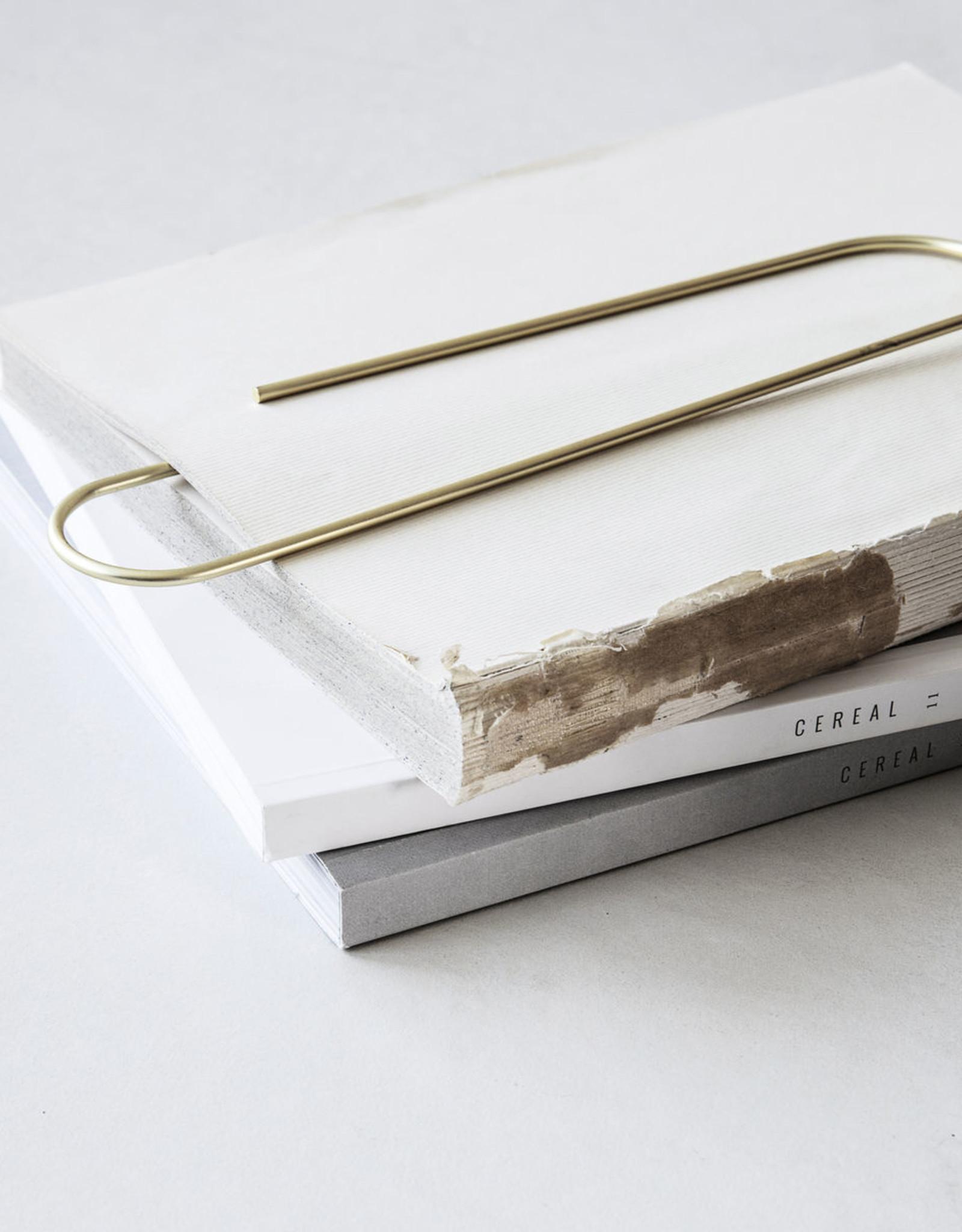 Monograph paperclip XL brass