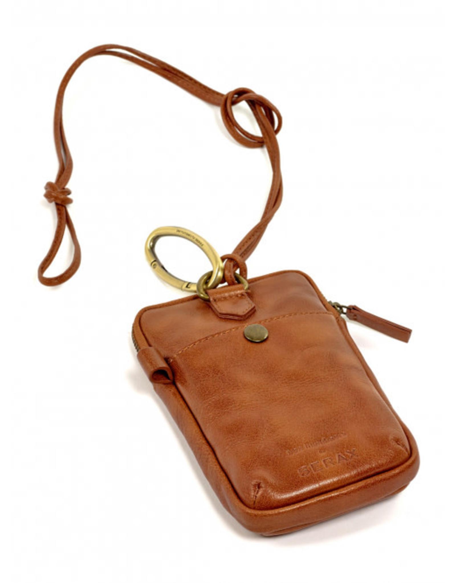Serax telefoonpocket by Bea Mombaers -cognac