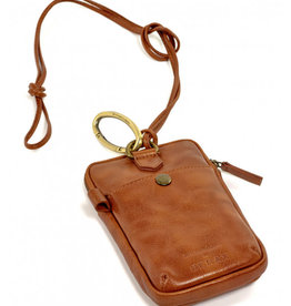 Serax phone pocket by Bea Mombaers -cognac