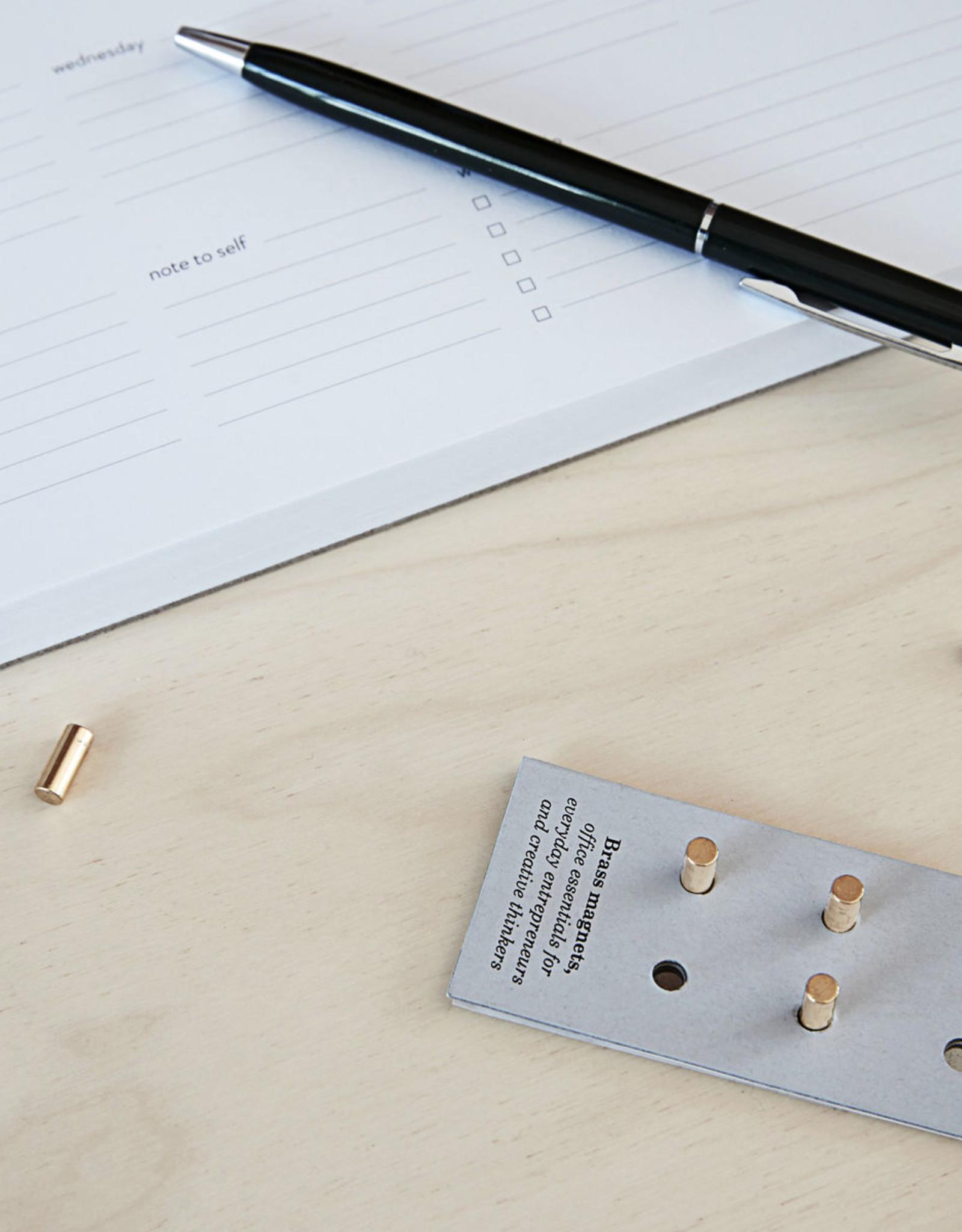 Monograph set van 10 magneten - brass