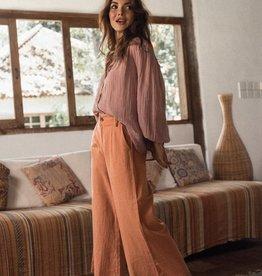 """Bukit & Soul 'Victoria""""  linen trousers - coral"""