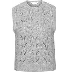 Gai&Lisva spencer 'Ava' knitted - lichtgrijs