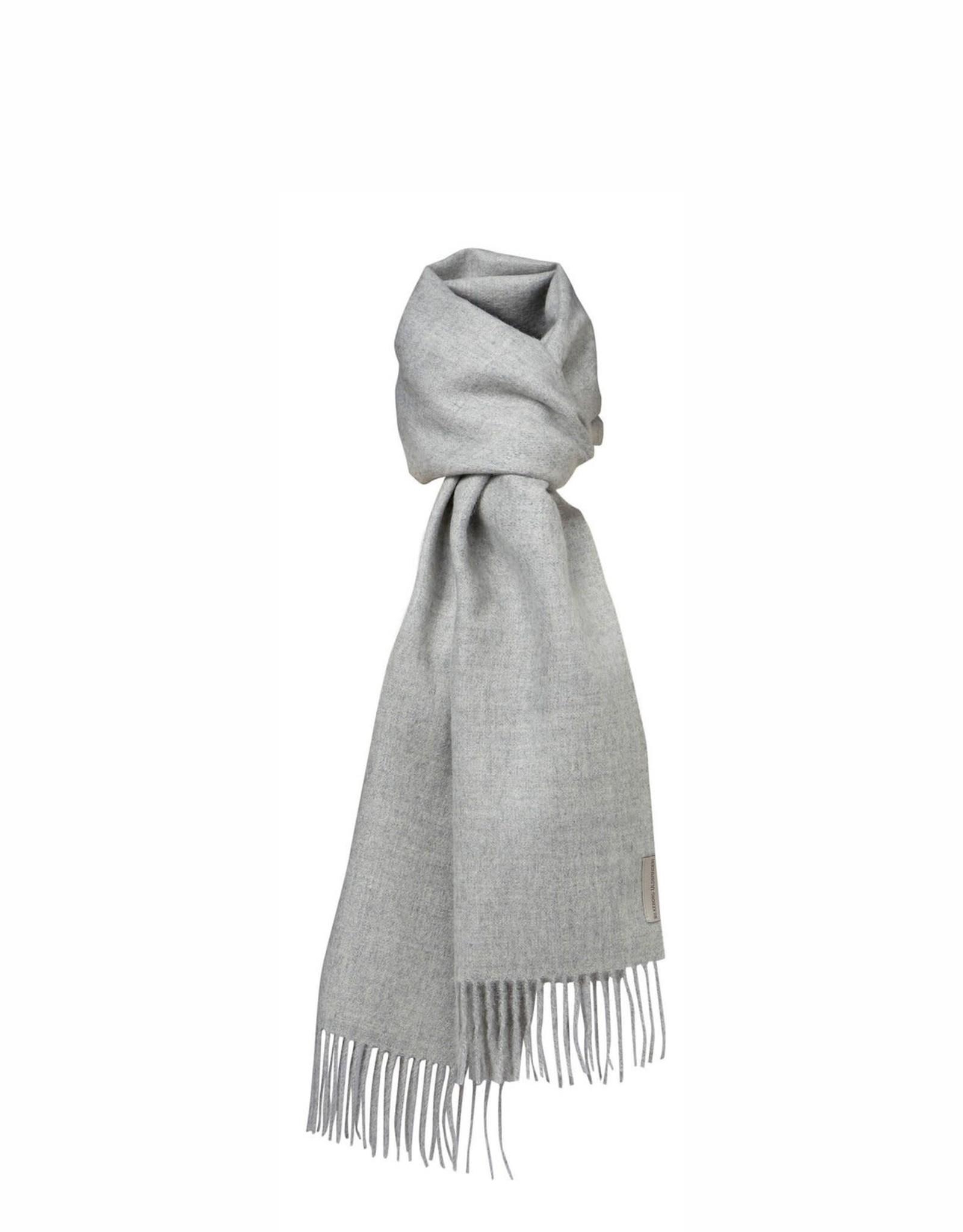 Silkeborg sjaal 'Arequipa' alpaca - licht grijs