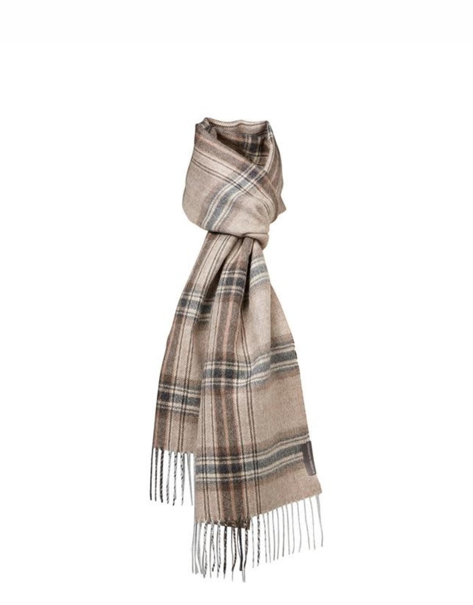 Silkeborg sjaal 'Buenos Aires' alpaca - check brown