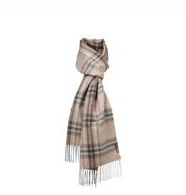 Silkeborg scarf  'Buenos Aires' alpaca - check brown
