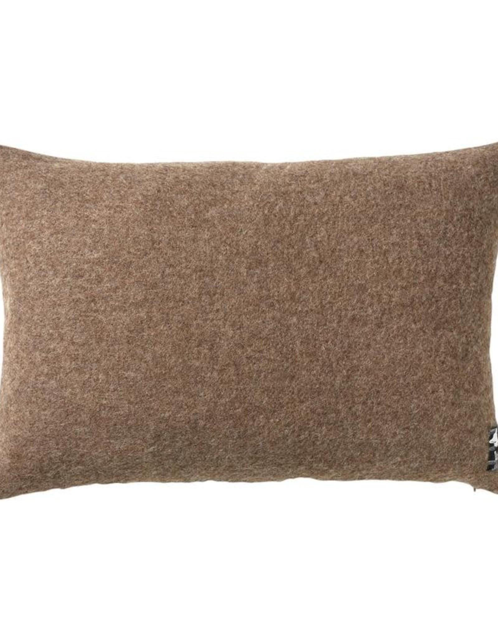 Silkeborg pillow 'Gotland' brown - wool / linen