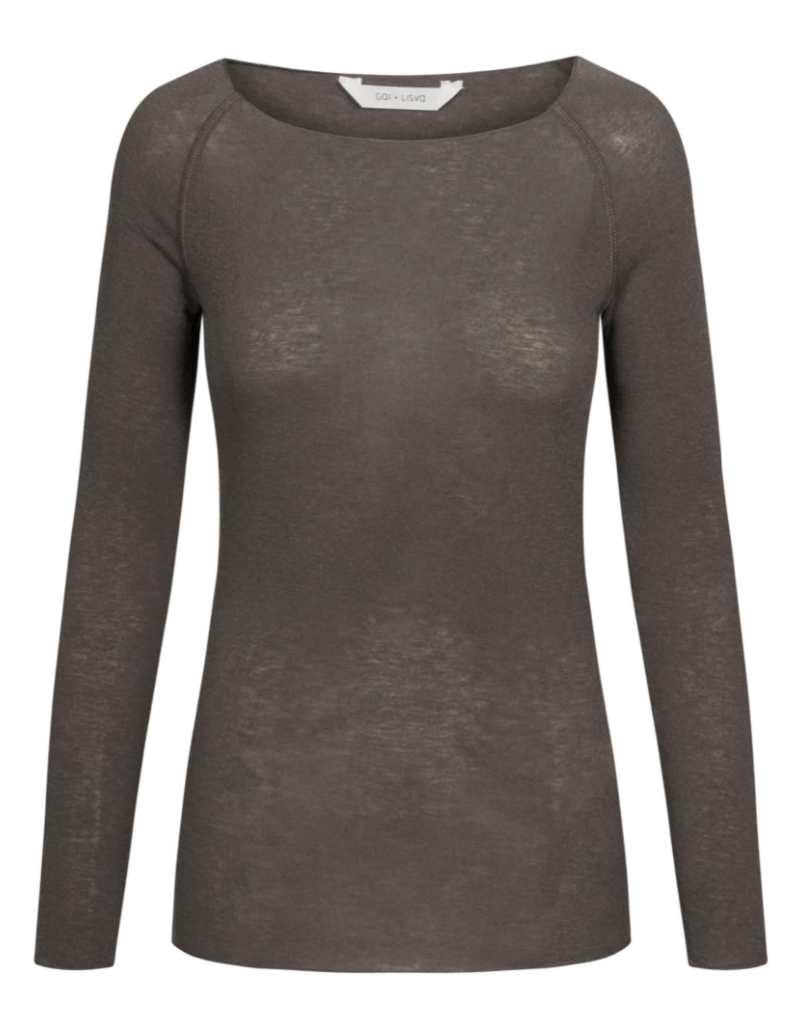 Gai&Lisva Amalie shirt wol/viscose -Soil Brown