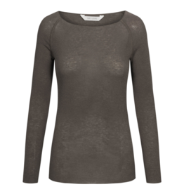 Gai&Lisva shirt 'Amalie' wool/viscose -Soil Brown