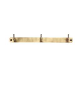IBLaursen Hook rack w/3 hooks antique brass