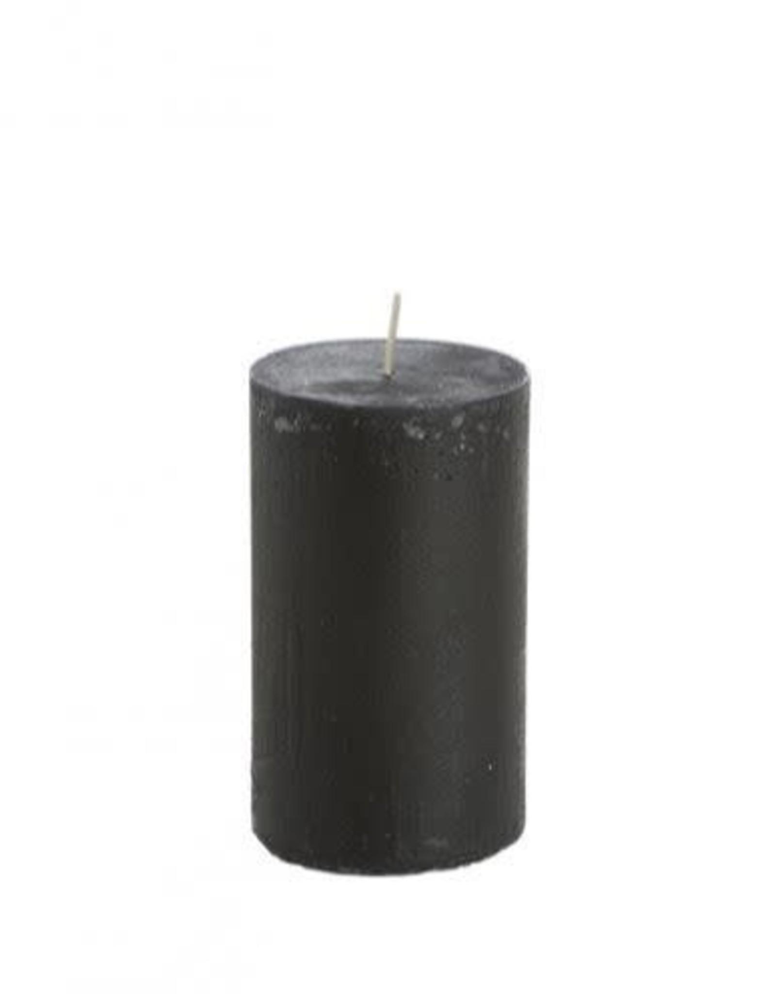 Rustik Lys rustic candle 7 x 13,5cm - black