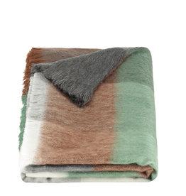 Alpacaloca Sjaal blocked brown, mint & grey