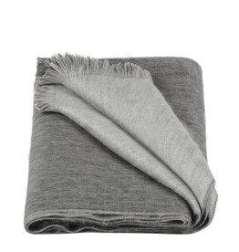 Alpacaloca Sjaal Dubbel Antraciet/Grijs